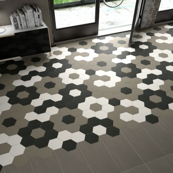 Carrelage sol et mur Hexagone