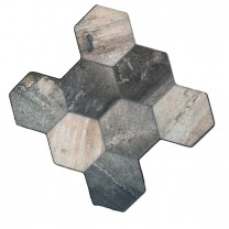Carrelage Sol Hexagone Old Bois Optique 45x45cm
