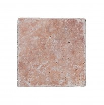 Carreaux en Pierre Naturelle Travertin Usantos Rosso 30,5x30,5cm
