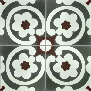 Carreaux de Ciment London Ornament Fleurs