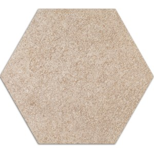 Carreaux de Ciment Optique Hexagone Atlanta Beige