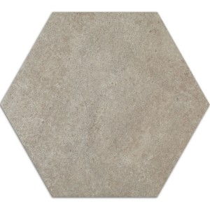 Carreaux de Ciment Optique Hexagone Atlanta Gris