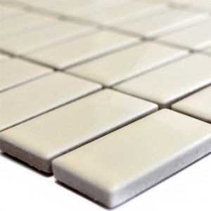Céramique Mosaïque Carrelage Adrian Beige Brillant Rectangle