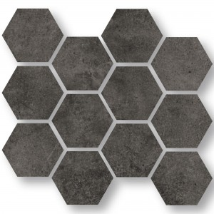 Mosaïque Carrelage Oregon Anthracite Hexagone