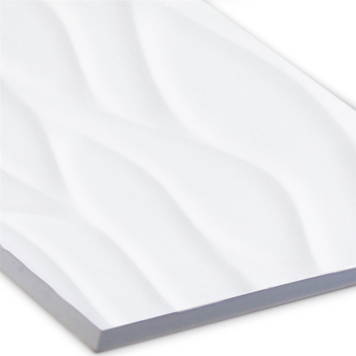 Carrelage mural vague blanc mat 30x90cm lz69283 for Carrelage mural blanc